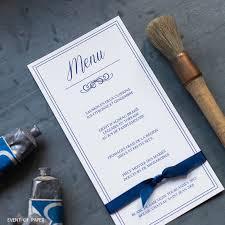 rã ponse mariage classique élégant bleu royal chic luxe menu mariage