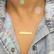 Name Bar Necklace Gold Shop Gold Bar Monogram Necklace On Wanelo
