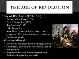 chapter 23 the age of revolutions and industrialization ppt