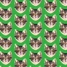 cat wrapping paper green cat wrapping paper sheet la familia green