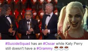 Oscar Memes - oscars 2017 suicide squad won the academy award for best makeup and
