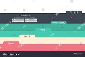 website template design colored labels flat stock vector 160015091