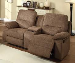 Reclining Loveseat W Console Sofa Fascinating Reclining Loveseat With Console Microfiber