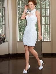 new summer style short wedding dress 2017 high neck