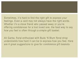 Condolence Gift Ideas 4 Great Condolence Gift Basket Ideas From Buds U0027n Blum