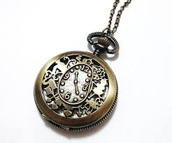 necklace pendant watch images Alice in wonderland pocket watch necklace vintage style pocket jpg