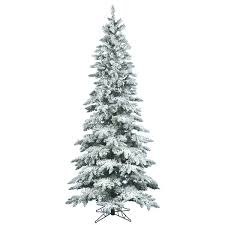 vickerman flocked utica 9 green fir artificial tree