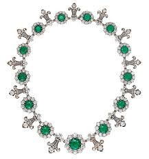 green emerald necklace images An early diamond and emerald tiffany co necklace christie 39 s jpg
