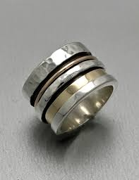 ring spinner hammered spinner ring 1 jewellery house of piper