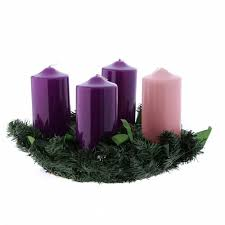 advent wreath kits liturgical advent kit wreath and shiny candles 8x15 cm online