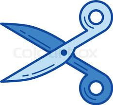 scissors vector sketch icon isolated on background hand drawn