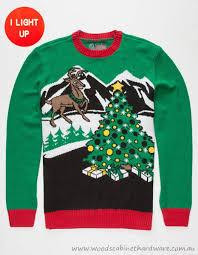 275680500 reindeer light up ugly christmas sweater men u0027s