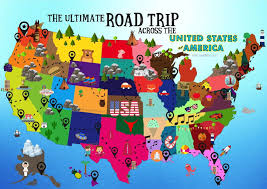 Map Of States Of Usa by Brian Bs Climate Blog 70f Road Trip Entrancing Road Trip Maps Of