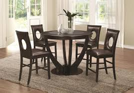 dining room table height stapleton 106748 counter height 5pc dining set by coaster