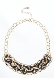 colored chain link necklace images Chain link necklace short cato fashions jpg