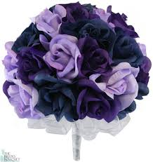 lavender bouquet navy blue lavender and purple silk wedding bouquet