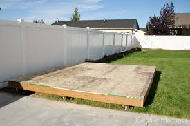 How To Build A Floor For A House Creative Mommas Build A Foundation For A Shed