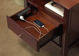 End Table Charging Station by Nightstand Charger Station Entracing Brockhurststud Com