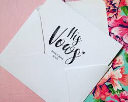 wedding vow cards wedding vows card etsy