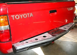 2002 toyota tacoma rear bumper replacement demello road rear pre runner 95 04 bumper demello rear
