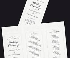 trifold wedding program paper wedding templates