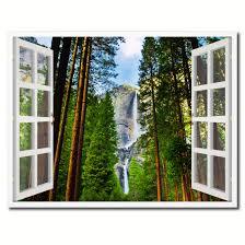 waterfall home decor waterfalls yosemite national park california picture window wall