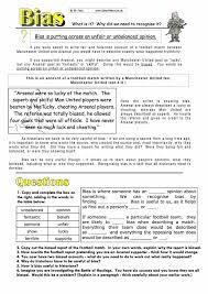 understanding bias study worksheet free pdf download
