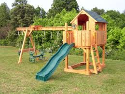 exterior exciting outdoor playground design with oak wood