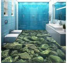 floors decor and more waterfall cliff green mountain 00096 floor decals 3d wallpaper