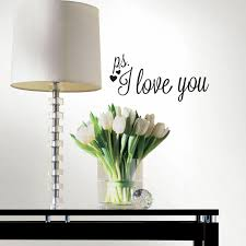 roommates p s i love you with heart single sheet peel and stick