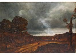 David Cox david cox oil painting on panel of landscape