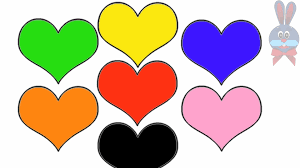 learn colours for children with cute hearts colouring pages youtube