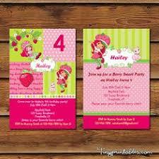 printable birthday invitations strawberry shortcake diy strawberry shortcake inspired birthday invitation birthday