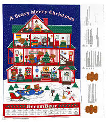 holiday inspirations christmas fabric beary merry christmas advent