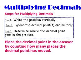 multiplying decimals multiplying decimals lessons tes teach