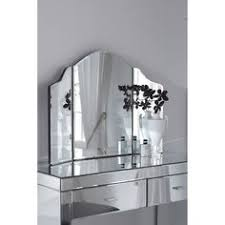 Black Mirrored Bedroom Furniture by Mirrored Accent Table With Single Drawer Plus Table Lamp And Tile