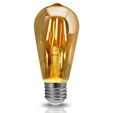 edison vintage led dimmable light bulb filament tear drop retro st64