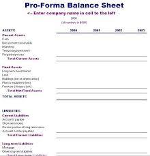 pro forma balance sheet template free layout u0026 format