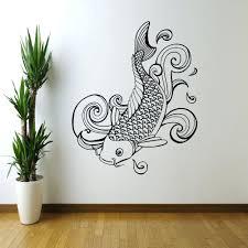 wall ideas painted wood fish wall large wood fish wall