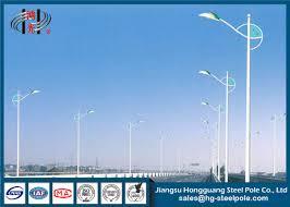 decorative street light poles 10 meters conical steel street light poles decorative lighting pole