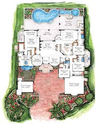 extremely inspiration 5 luxury mediterranean house floor plans