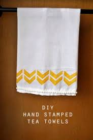 kitchen towel craft ideas make your own gorgeous geo printed tea towels tuts crafts