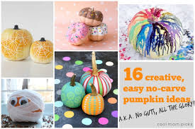No Carve Pumpkin Decorating Ideas 16 Creative Easy No Carve Pumpkin Decorating Ideas No Guts All
