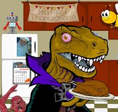 happy thanksgiving 2015 dinosaur dracula