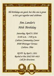 90th birthday invitations alesi info