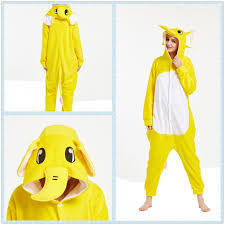 yellow elephant pajamas onesies costume