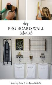 Laundry Room Wall Storage Remodelaholic How To Hang Pegboard For Laundry Room Storage