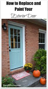 how to replace and paint an exterior diy door thrift diving blog