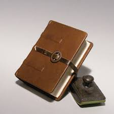 Leather Memory Book Leather Journal Medieval Diary Small Blank Book Hand Bound Note
