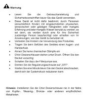 Esszimmerst Le Gemischt Steinbach 07030 Chlor Dosierschleuse Für Pool Chlortabs Multitabs